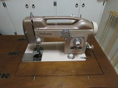 Vintage White Sewing Machine Model 764 Art Deco with Cabinet It Works Good | eBay