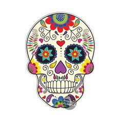 Azúcar mexicana cráneo coches calcomanía  vinilo por MeganJDesigns