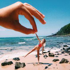 пляж, смешно, девушка, фото, лето