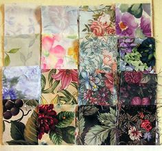 """""""Watercolor Quilt"""" Tutorial (Quilt that uses busy, multicolored prints, cut in squares, sewn in a light to dark gradient.)"""