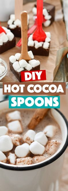 Make your own cocoa with these hot chocolate spoons #kidfood #hotchocolate