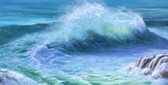 'Little Wave' Karen Malmgren Artist  Oil on canvas