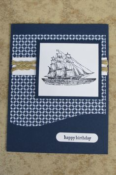 Masculine Ship by AnnetteMac - Cards and Paper Crafts at Splitcoaststampers