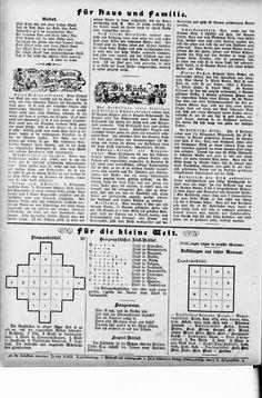 Handarbeitsbeilage zu mehreren Zeitungen in Brandenburg und Pommern, um 1900