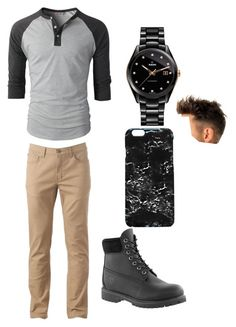 """Untitled #24"" by caitlin-abigail-acker on Polyvore featuring Urban Pipeline, Timberland, Rado, Rianna Phillips, men's fashion and menswear"