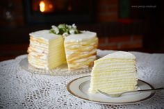 Layer cake Marcinek-Get your hourly source of sweet. Holiday Desserts, No Bake Desserts, Delicious Desserts, Polish Desserts, Polish Recipes, Polish Food, Sweet Recipes, Cake Recipes, My Favorite Food