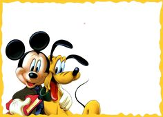 Mickey and Pluto Kids PNG Photo Frame