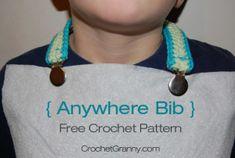 Anywhere Bib Free Crochet Pattern - Crochet Granny
