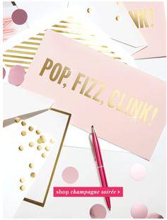 Blush, gold foil, white, gold & white stripe, & confetti