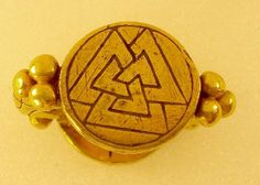 Nene River Ring and Valknut A gold ring was found in the Nene River near Peterborough in 1855 Dated from AD the ring has two circular bezels set across from each other on the hoop with.