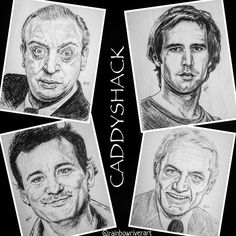 TEAM CADDYSHACK ⛳️🏌️🦦 Can't believe July 25, 2020 marked the FOURTIETH year #anniversary to one of the best films, ever!  A timeless classic, I can't count how many times I watched it.  These are some older sketches I made, def need to update!  Hope everyone is staying safe & enjoying their #Summer as much as possible. 🏌️⚡️ #rainbowriverart #sillyfacesseries #rodneydangerfield #billmurray #chevychase #tedknight #caddyshack #hilarious #comedyfilms #comedy #classics #oneofakind #seventies… Ted Knight, Rainbow River, Chevy Chase, Silly Faces, The Best Films, Comedy Films, July 25, Timeless Classic, Hyde