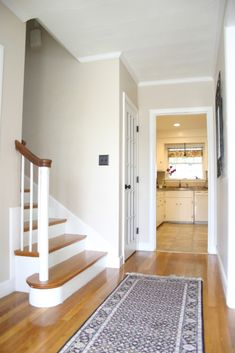 Benjamin Moore Brandy Cream. On the walls here, but consider for Trim.