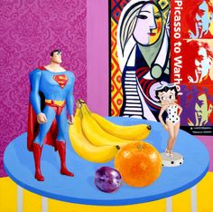 "Superman (2012), 30x30"" Oil on Canvas"