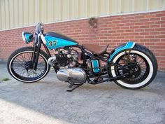 triumph bobber, built by angry monkey motorcycles Triumph Bonneville, Triumph Motorbikes, Bobber Motorcycle, Cool Motorcycles, Triumph Motorcycles, Vintage Motorcycles, Street Tracker, Bobbers, Motorcycles