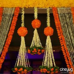 5 easy swaps for an Eco-friendly wedding! Diwali Decorations, Stage Decorations, Indian Wedding Decorations, Flower Decorations, Diy Flowers, Housewarming Decorations, Garland Decoration, Flower Garlands, Ganpati Decoration Theme