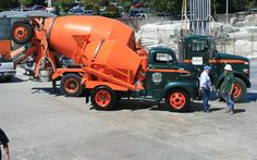 Through the ages. Construction Humor, Heavy Construction Equipment, Heavy Equipment, Vintage Trucks, Old Trucks, Cement Mixer Truck, Weather Models, Concrete Mixers, Portland Cement