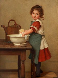 George Dunlop Leslie (1835-1921) —   This Is the Way We Wash Our Clothes, 1887 : Lady Lever Art Gallery, Liverpool. UK  (712x944)