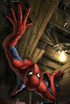 Spiderman Upside Down - Digital Art - Fribly 9ab9e46ea
