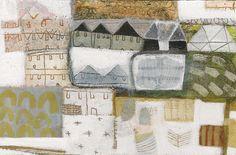 Anne Davies - beach below,  4 x 6 inches, acrylic on board, Porthminster Gallery