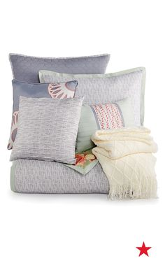 Need a room refresh? Show pillows can make all the difference. They are a great way to introduce color and they add a luxurious vibe. Check out these bold patterns from the new Kelly Ripa Home collection, only at Macy's!