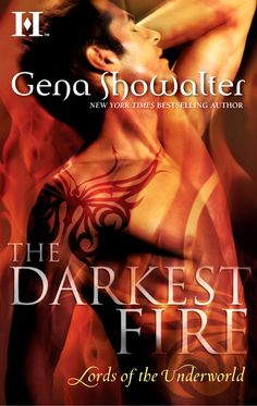 Cover for THE DARKEST FIRE, a Lords of the Underworld prequel.