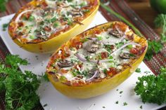 Pizza Spaghetti Squash Boats – Mind Over Munch