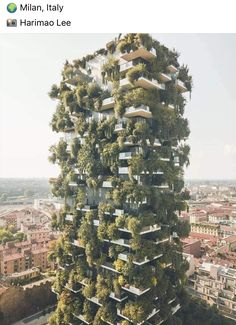 Bosco Verticale, meaning vertical forest, is a pair of residential towers in Milan, Italy. This tower has over 500 trees on it. 😍🌳 Tag your… Voyage En Camping-car, Vertical Forest, Architecture Cool, Milan Italy, Venice Italy, Travel And Tourism, Places To Travel, Travel Destinations, Beautiful Places