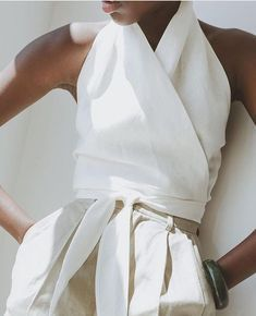 {Structured linen.}☆ Follow us @sommerswim for more daily inspo ☆ S O M M Ξ R . S W I M - Minimalistic luxe swimwear by Anna-Maria Sommer
