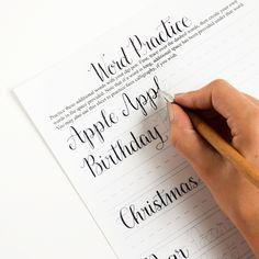 Premium Calligraphy Worksheet Set {Amy Style}