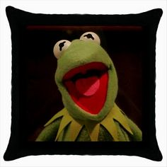 KERMIT THE FROG THE MUPPETS Quality Black Cushion Cover Throw Pillow Case  http://stores.shop.ebay.co.uk/giftbazaar