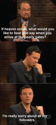 Just one more reason why i love seth macfarlane.