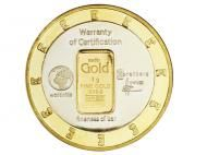 How to buy gold easily. The 24 karat, 1 gram Karatbars gold coin Gold Rate, Plastic Card, Gold Bullion, Nickel Silver, Bronze, Marketing, Gold Coins, Business Opportunities, Investors