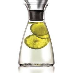 Eva Solo drip free carafe,Can be used for all types of beverages as well as for decanting and serving wine. Heat-resistant glass. Holds up to 1.01 liters.