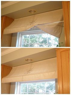 13 problems easily solved with tension rods think i might try this in my kitchen window - Kitchen Window Valances