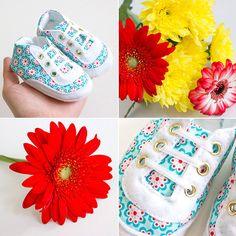 Babyschuhe: Frühlingsparade, Schnittmuster aus meinem Buch: http://www.kreativlaborberlin.de/mein-buch-babyschuehchen-naehen/