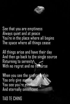 Tao Te Ching ~ emptiness - you Will See you're EverLasting and Eternally Omnificent ..