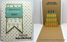 FANtastic Maculine Pop-up Birthday card with Hero Arts and Studio Calico Blue Notes stamps