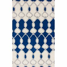 nuLOOM Handmade Twisted Trellis Blue Wool Rug (7'6 x 9'6) | Overstock.com Shopping - Great Deals on Nuloom 7x9 - 10x14 Rugs