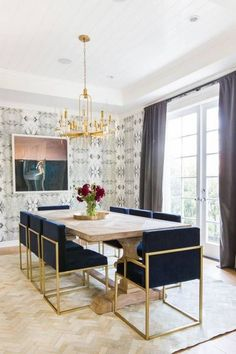 Glam Dining Room Amazing Wallpaper, Bold Wallpaper, Dining Room Wallpaper,  Wallpaper Ideas,