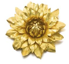Gold brooch, Cartier, Circa 1959  Designed as a single flower head, signed Cartier and numbered, French assay and maker's marks, British import marks, original Cartier case.
