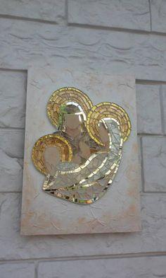 Mosaic Nativity Scene image 1 Mosaic Crafts, Mosaic Projects, Mosaic Art, Mosaic Glass, Stained Glass, Glass Art, Mosaic Ideas, Christmas Mosaics, Christmas Crafts