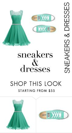 """Greenly Chic"" by creativeness-duhhhh on Polyvore featuring Converse and GreenlyChic"