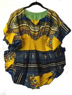 African Stretch Waist Dashiki Top