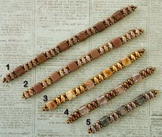 Linda's Crafty Inspirations: Playing with my beads... BeadNurse Band Samples