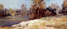 Ken Knight (Australian b.1956) The Rurrun Bidgee River, 14 x 31.5 ...