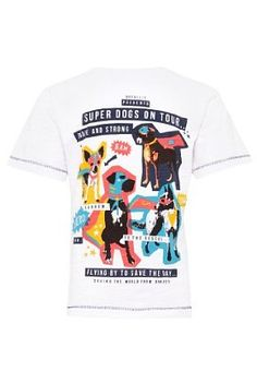 M Limited Pure Cotton Super Dogs T-Shirt