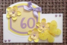 Handmade 60th card