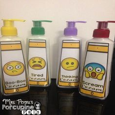EMOJI Lotion Labels: Supporting Self-Regulation Skills EMOJI lotion labels! Teach self-regulation skills to your students through the use of lotion! Classroom Behavior, Preschool Classroom, Future Classroom, Classroom Themes, Classroom Organization, Kindergarten, Zones Of Regulation, Self Regulation, Coping Skills