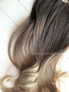 Ash Blonde Ombre Hair, Ombre Clip In Hair