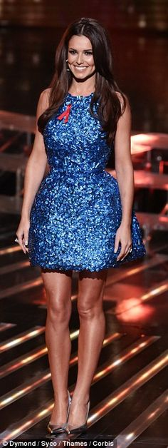 Showstopping: Cheryl Fernandez-Versini looked incredible in her dazzling blue dress and si...